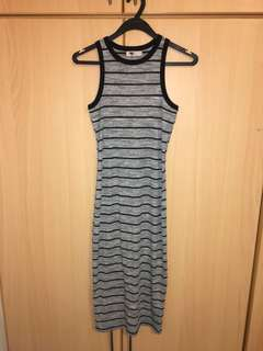 Temt long tight striped dress