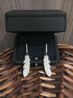 Swarovski Feather Earrings