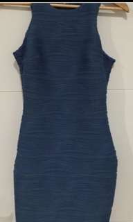 Navy Rouched Dress