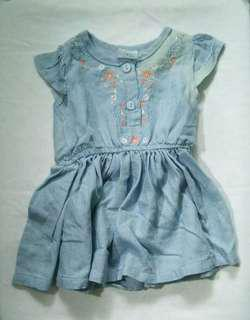 Baby Girl Maong Dress (6 Months)