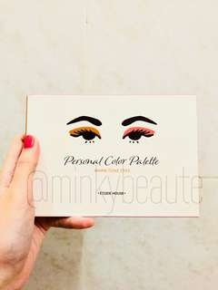 Etude House Personal Color Palette (Warm Eyes)