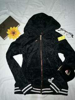 betsey johnson velvet black jacket