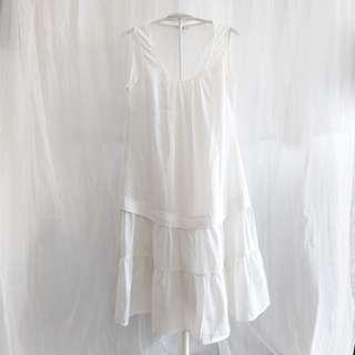 The Station (T.S.) White Drop Waist Dress