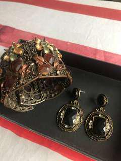 Bundle: Earrings and Bangle
