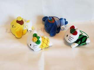 布甸狗 Hello Kitty 水果造型公仔共 4 隻