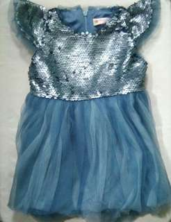 Baby Girl Blue Gown (1T)
