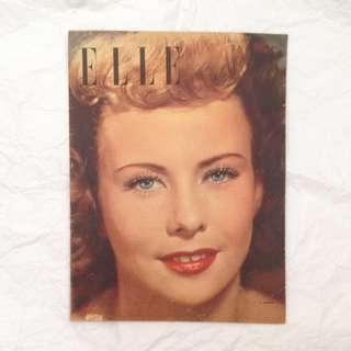 6 JAN 1948 Elle French Vintage Fashion Magazine