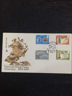 Jersey 1974 UPU FDC stamps