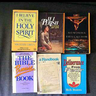 6 Christian books :  if  I Perish Esther Deliverance From Fear Promise Book Two Shall Become One  Holy Spirit