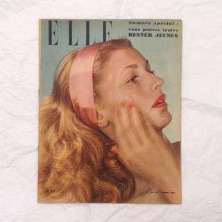 2 MAR 1948 Elle French Vintage Fashion Magazine
