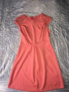Pink Dress w Crochet Back