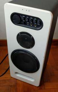A pair of Sharp speakers - perfect for karaoke, music or movies