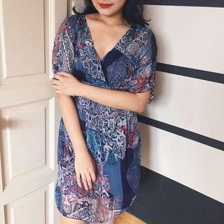 (NEW) Printed Midi Dress
