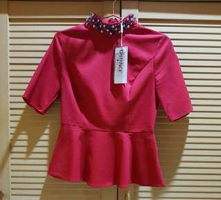 Blouse Distance Hot Red