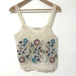 Pul & Bear lace embroidery vest