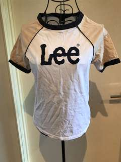 Lee T-shirt (white/cream/navy blue) brand new (without tags) (size 8)