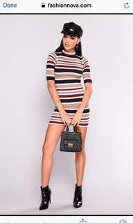 Fashion nova stripped dress