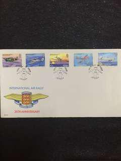 Jersey 1979 Int'l Air Rally FDC stamps