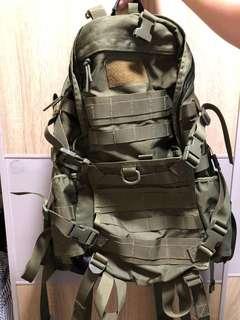 軍綠色背包  backpack 食雞 書包 背囊