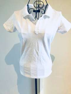 Missimo Polo Top (white) (size 8) (new without tags)
