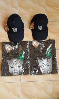 TRANSFORMERS REVENGE OF THE FALLEN T-SHIRT AND CAPS