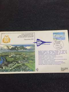 Jersey 1979 40th Anniv Formation Air Transport Auxiliary Concorde Flight Cover