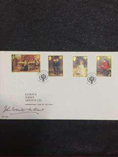 Jersey 1979 Paintings FDC stamps