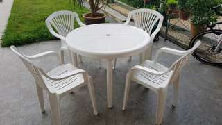 Plastic Table & Chairs Set