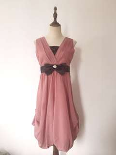 Red bean color party dress