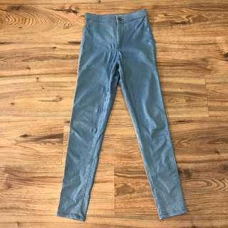 Reduced! Authentic Topshop Moto Joni Jeans in Light Blue