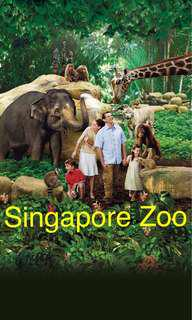 Zoo/River Safari/Night Safari/Jurong Bird Park Open Date Eticket