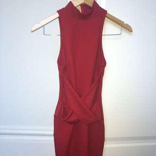 Red Bodycon Dress Size 6