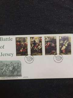 Jersey 1981 Battle of Jersey FDC stamps