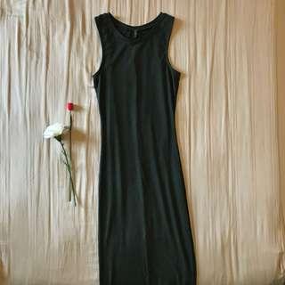 CO Olive maxi dress