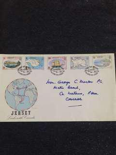 Jersey 1978 Links with Canada FDC stamps
