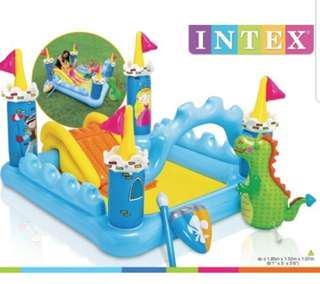 🔶 AC Pump Included 🔶Intex Fantasy Castle Inflatable Pool Play Center