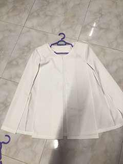 White OL cape