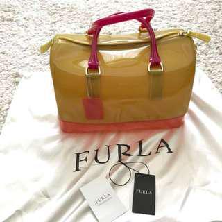 Preloved Furla Candy Bag in Tricolour