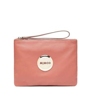 Mimco Lovely Medium Pouch Clay