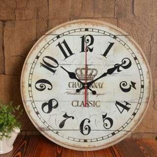 Vintage Design Crown Wall Clock, 復古英倫皇冠掛牆鐘