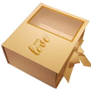 Craft box with ribbon