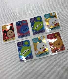 Tsum Tsum 貼紙 7-11 印花