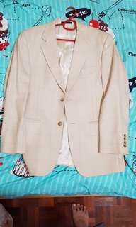Beige Silk Wool Coat
