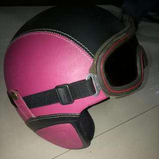 Helm Bogo Black Pink