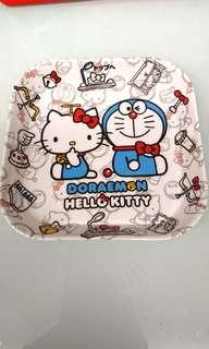 Kitty x Doraemon 叮噹 正方小碟
