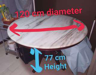 Redwood marble round dinning table