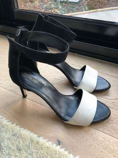 Zara black and white heels