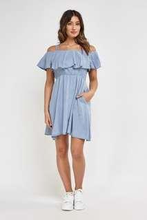 Overlay Off Shoulder Dress