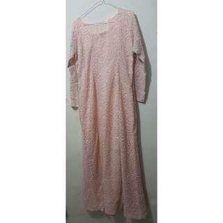 Dress Mewah full furing swarosky Bling Peach Gaun Pesta Wanita Blink