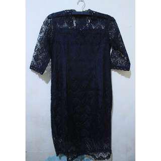 Black Brookat Midi Dress